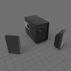 Set of computer speakers