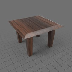 Square wood side table