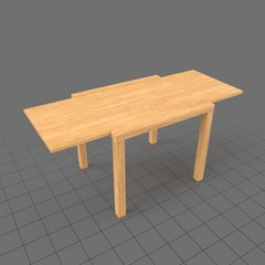 Extended wood table