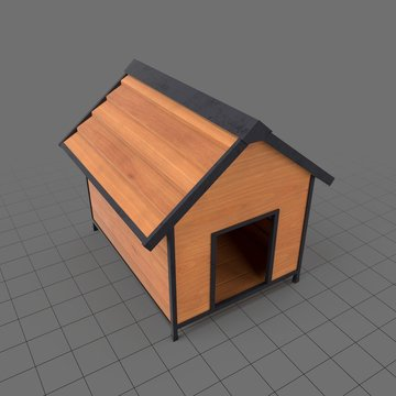 Wooden doghouse
