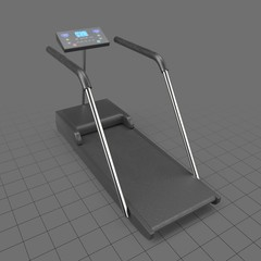 Treadmill with digital display