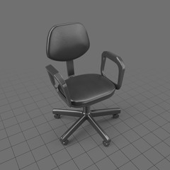 Office chair with high arms