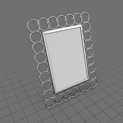 Photo frame with ring design