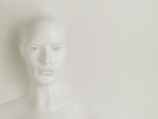 Masterpiece - plaster sculpture of a woman