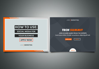Orange and Gray Business Technology Social Media Post Layouts 01
