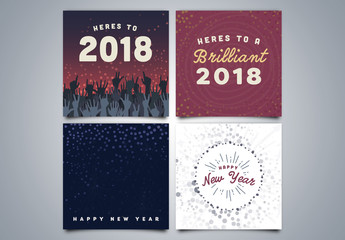 New Years Social Media Post Layouts 01