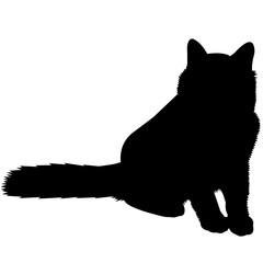Birman Cat Silhouette Vector Graphics