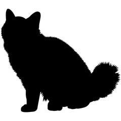 Burmese Cat Silhouette Vector Graphics