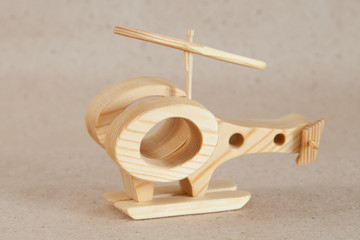 Wooden handmade toy - airplane (helicopter)