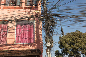 Cable Entanglement, Kathmandu, Nepal