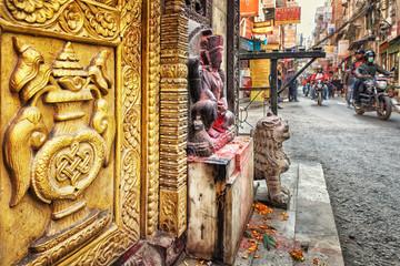 Hindu Temple in Thamel, Kathmandu, Nepal