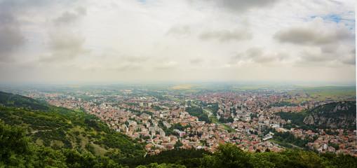 panoramic view of Asenovgrad town