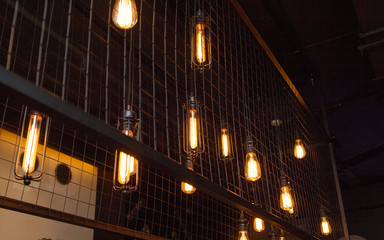 light bulbs in a modern interior