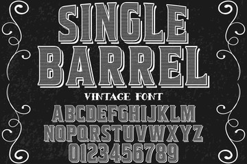 vintage font typeface handcrafted vector named ranch house