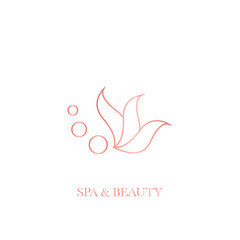 Monoline simple vector logos for spa and beauty salon