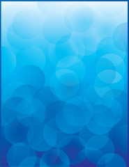 Blue Circles, Bubbles, Lights, Poster Template