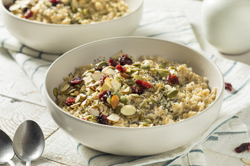 Healthy Organic Superfood Oatmeal Breakfast