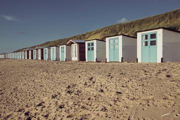 Standhäuser am Strand von Texel
