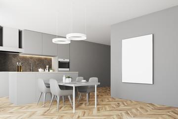 Gray kitchen corner poster