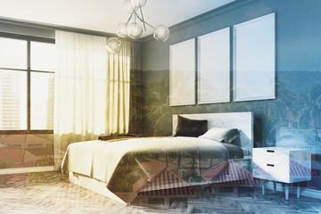Gray bedroom corner, poster gallery