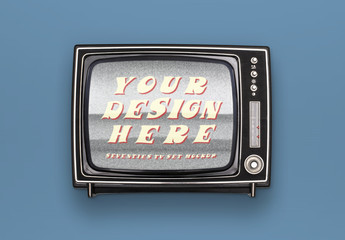 Retro TV Set Mockup 1