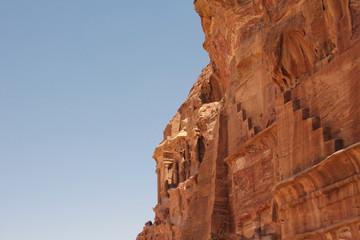 Felswand in Petra