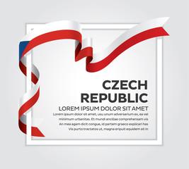 Czech Republic flag background