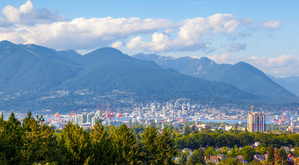 Vancouver City and North Shore Mountains Wall mural