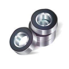 Bearings on the white background.Vector Ilustration.