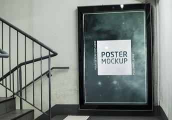 Indoor Framed Banner Advertisement Mockup 2