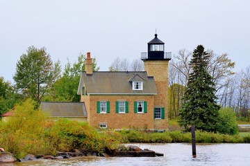 Ontonagon Lighthouse On Lake Superior By the Ontonagon River.Ontonagon MI