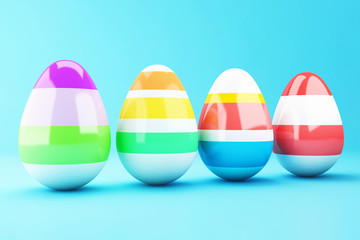 3d Decorated Easter eggs