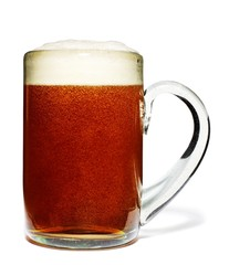 Glass mug of foamy beer