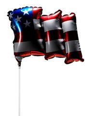 Shiny balloon with American flag pattern