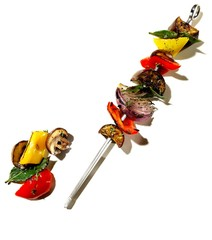 Grilled vegetables on skewer