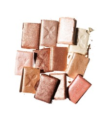 Pile of beige, brown and pink powdered eyeshadow