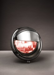 Metal car headlight studio shot