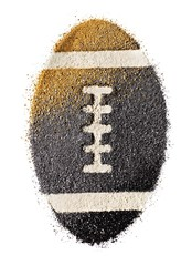 Powdered cosmetics shaped like football