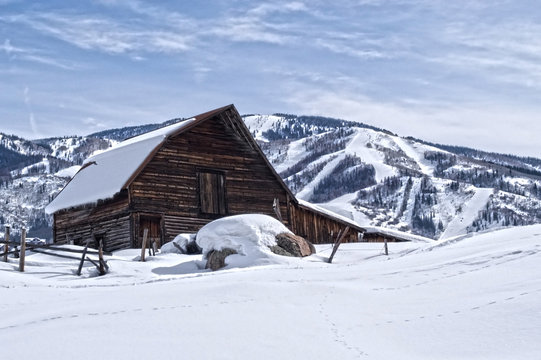 Steamboat Springs Ski Resort and Barn