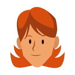 Woman face smiling cartoon icon vector illustration graphic design