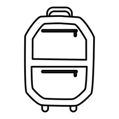 Suitcase isolated symbol icon vector illustration graphic design