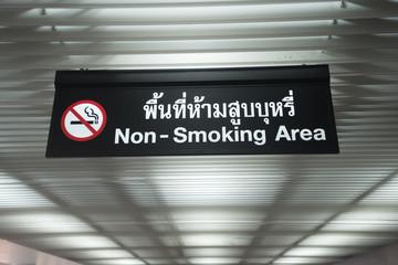 No Smoking Sign and Don't smoke sign