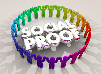 Social Proof People Network Circle Group 3d Illustration