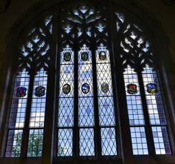 Stained Glass Window Law Library Yale University New Haven Connecticut
