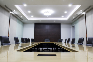 Modern meeting room with table and chairs. concept conventon room. conference room