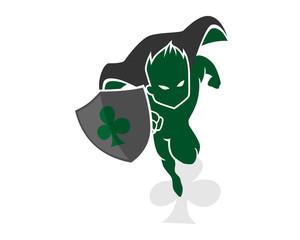 clover heroes mascot cartoon character