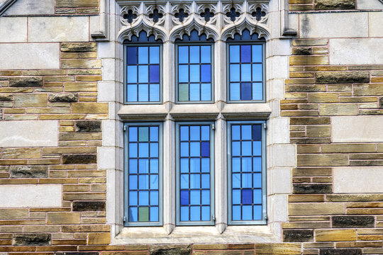 Multicolored Window Yale University New Haven Connecticut