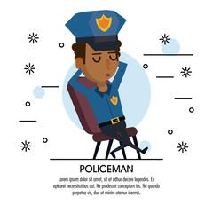 Policeman cartoon design icon vector illustration graphic
