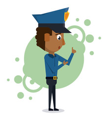 Policeman cartoon design icon vector illustration graphic