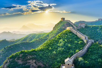 Foto auf Acrylglas Chinesische Mauer The Great Wall of China